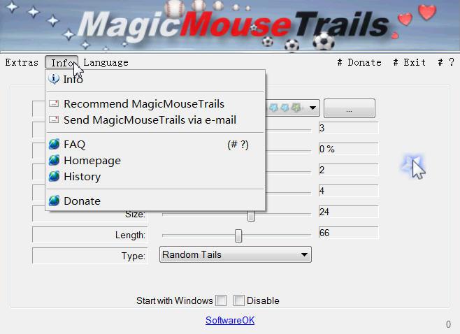 MagicMouseTrails(自定义鼠标拖动尾巴工具) 下载