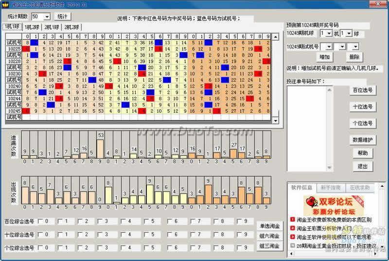 福彩3D淘金王分析软件 软件界面预览_2345软