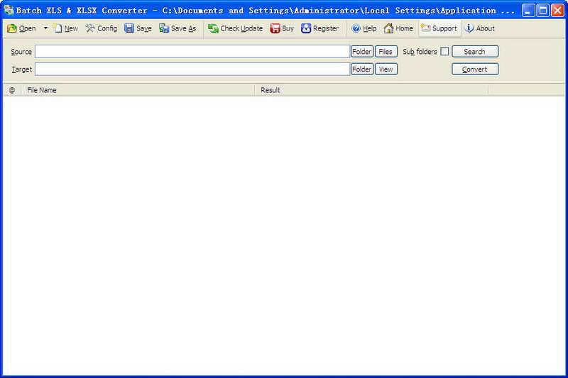 Batch XLSX and XLS Converter 软件截图