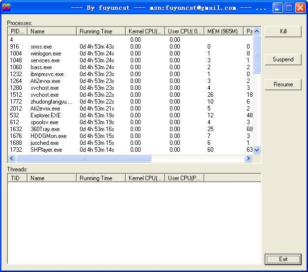 CPU使用率监视工具(TopShow) 1.01绿色免费版 V1.0