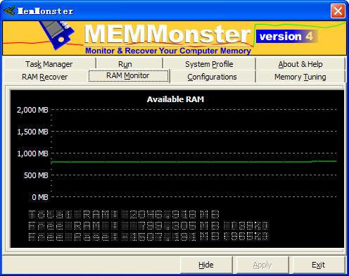 MemMonster (系统内存管理工具) V4.70