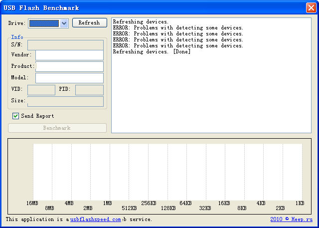 USB Flash Benchmark(U盘读写速度测试工具) V1.0