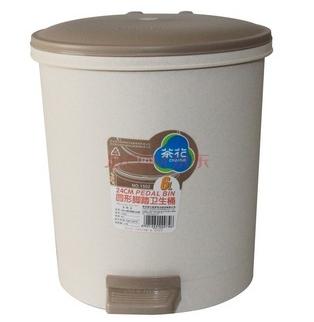 茶花 垃圾桶 圆型脚踏卫生桶 6l 1502