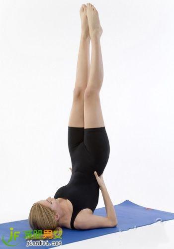 简单瑜伽瘦腿塑造修长纤细美腿术腰部吸脂减肥图片