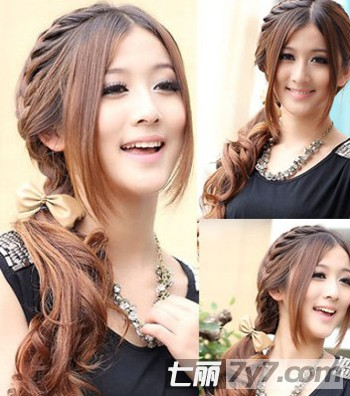 2011韩国最流行可爱中长发扎发
