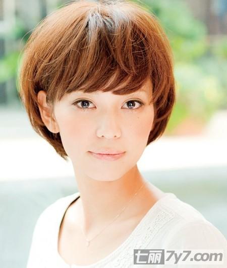 大脸方脸适合什么短发发型图片 日本职场女性杂志强力
