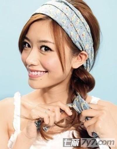 甜美优雅的侧加点围巾用发型给教程编发小新发型烫发刘海男士唯美图片
