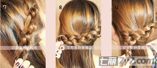 韩式简单时尚长发编发发型教程和图解