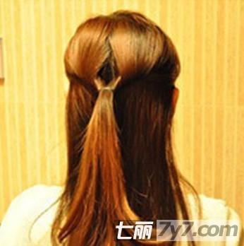 学习韩式短发编头发 中短发编头