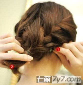 韩式名媛盘发发型 短发编发教程打造仙女范