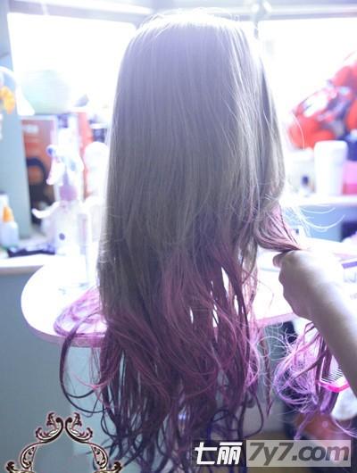 蔡依林 迷幻 渐变色发型染发教程 时尚潮流染发发型