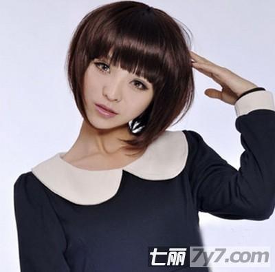 最新女生瘦脸短发bobo头发型 修饰胖脸圆脸打造v字小脸