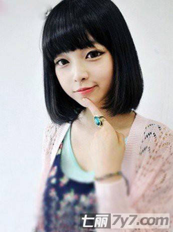 韩国短发美女时尚演绎 10款最新短发烫发发型图片图片