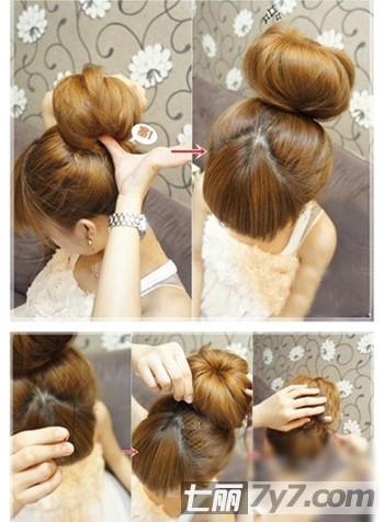 韩式花苞头的扎法步骤图解 瘦脸发型