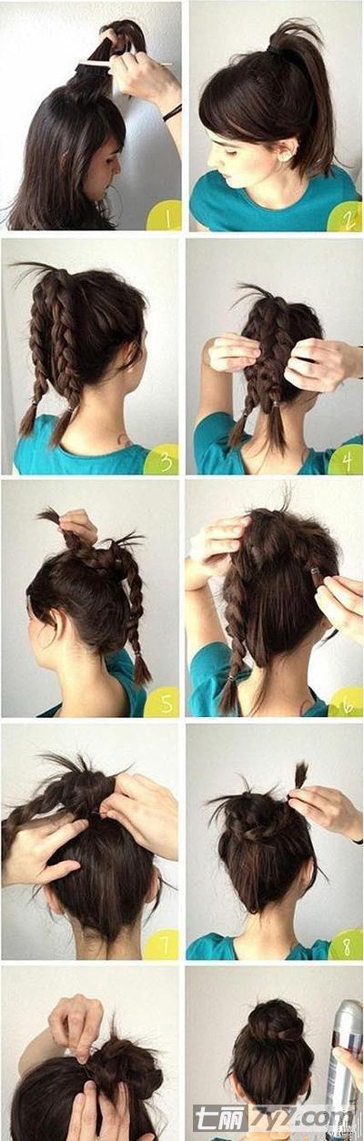 儿童发型女孩编发花苞头步骤分享展示
