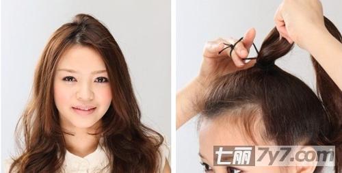 圆脸最显瘦的发型 韩式小清新花苞头盘发