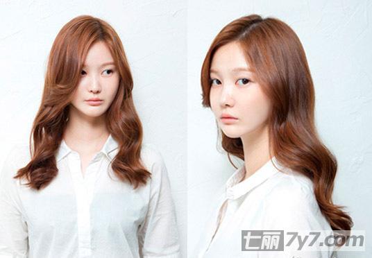 韩式中长发烫发发型 胖脸变瘦脸减龄又青春
