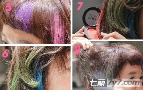 2014年女生短发染发发型 创意时尚染发显活力图片