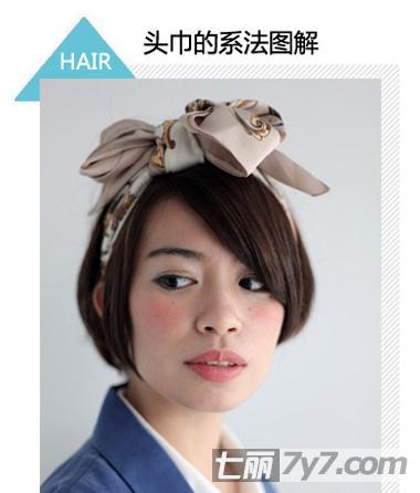 带头巾的短发女生头像