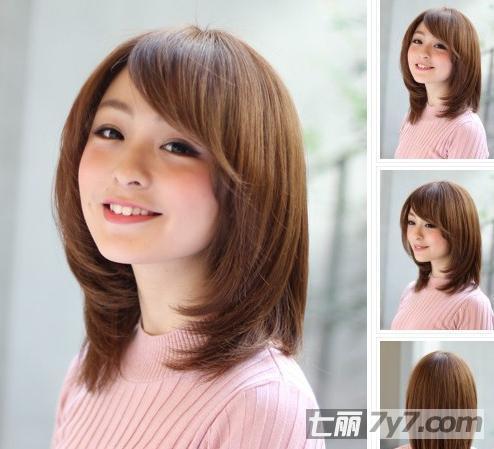 韩式流行的短发烫发发型