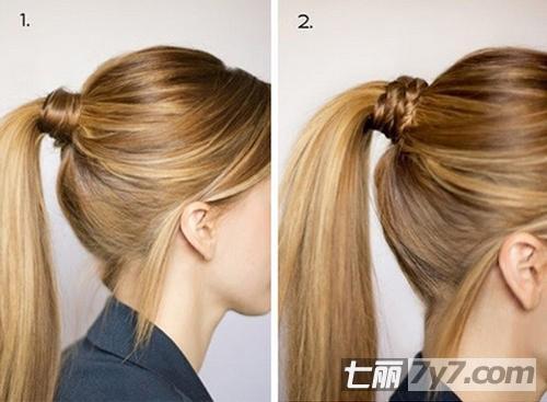 韩国马尾扎法图解步骤 简约风随性而慵懒-diy发型