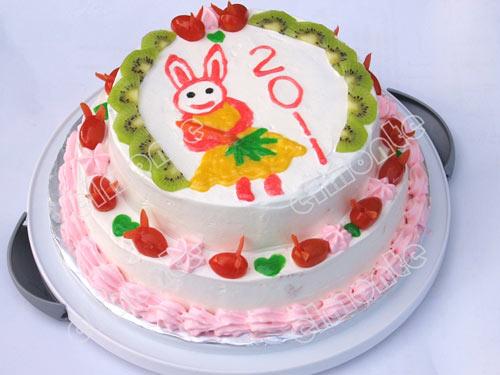 新年的蛋糕图片