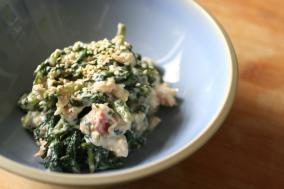 春菊蟹肉拌豆腐