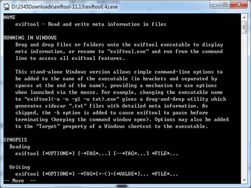 ExifTool(圖片信息查看工具)下載
