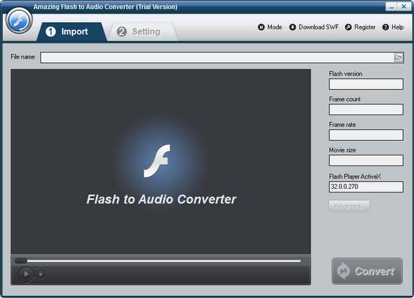 Amazing Flash to Audio Converter(Flash转音频软件)下载