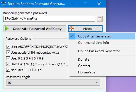 Sordum Random Password Generator(强密码随机生成器)下载